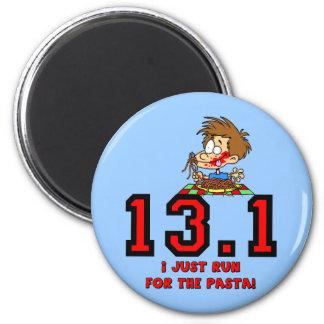 Funny half marathon 2 inch round magnet