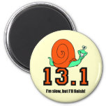 Funny half marathon magnets