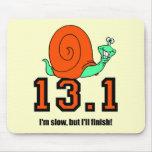 Funny half marathon mousepads