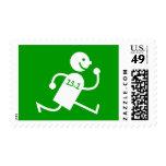 Funny half marathon postage stamps