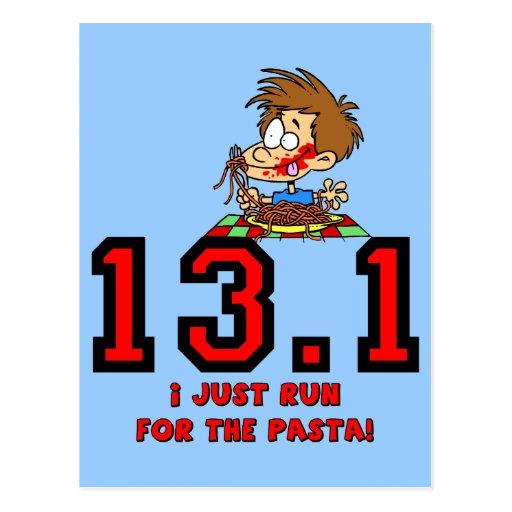 Funny half marathon postcard