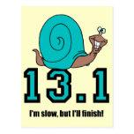 Funny half marathon postcards