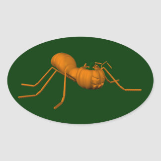 Funny Halloween Ant Oval Sticker