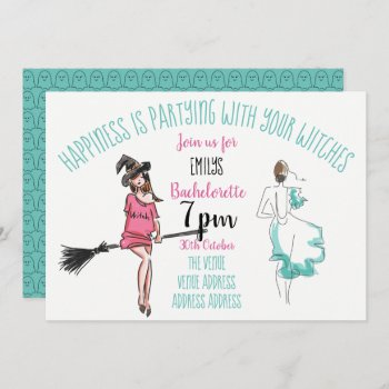 FUNNY Halloween Bachelorette Party Invites Witches