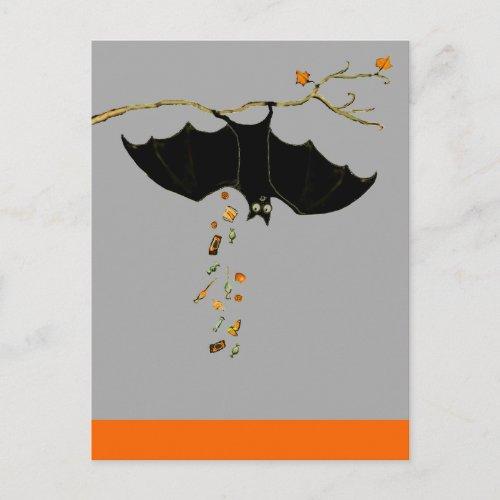 Funny Halloween Bat Postcard