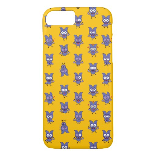 Funny Halloween bat showing a series of moods iPhone 8/7 Case