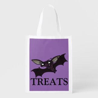 FUNNY HALLOWEEN BAT TRICK OR TREAT REUSABLE BAG REUSABLE GROCERY BAG