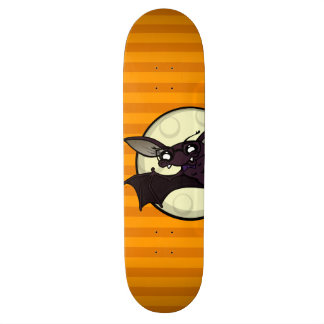 FUNNY HALLOWEEN BAT WITH STRIPES SKATEBOARD