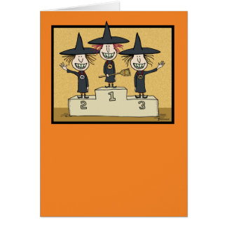 Funny Halloween: Best Witches Card