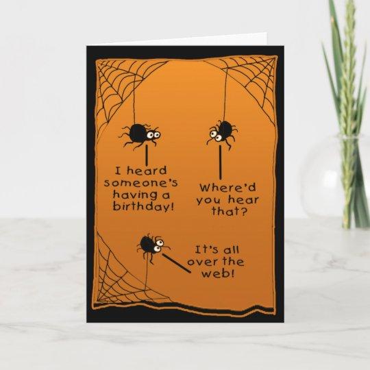 Funny Halloween Birthday Card Zazzle Com