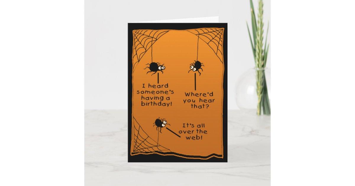 Funny Halloween Birthday Card Zazzle