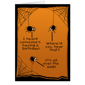 Funny Halloween Birthday Card