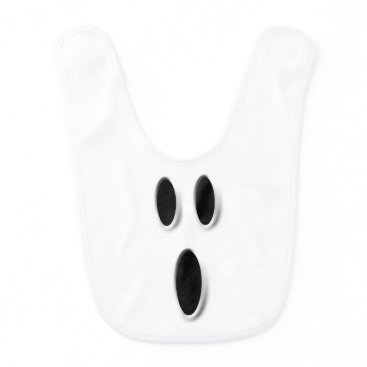 Halloween Themed Funny Halloween Boo Ghost Face Baby Bib