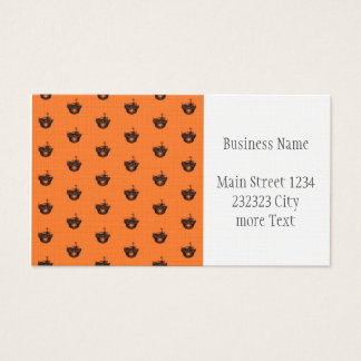 Funny Halloween - Burned Skull Pattern Business Card
