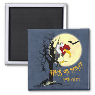Funny Halloween Buzzard 2 Inch Square Magnet
