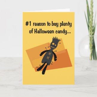 Funny Halloween Card card