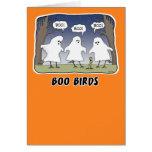 Funny Halloween card: Boo Birds