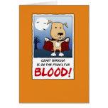 Funny Halloween card: Count Barkula