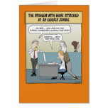 Funny Halloween card: Elderly Zombie
