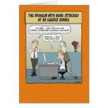 Funny Halloween card: Elderly Zombie Greeting Card