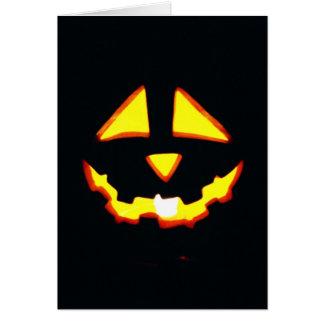 Funny Halloween Card, Jack o' Lantern Grin Greeting Card