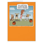 Funny Halloween card: Puppies