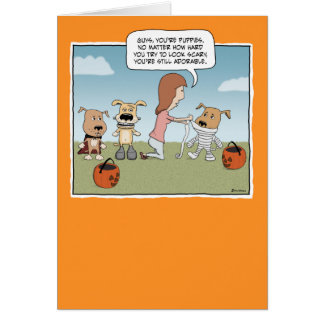 Funny Halloween card: Puppies Card