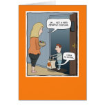 Funny Halloween card: The Costume
