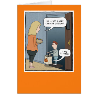 Funny Halloween card: The Costume Card