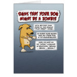 Funny Halloween card: Zombie Dog