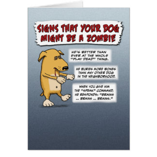 Funny Halloween card: Zombie Dog Greeting Card