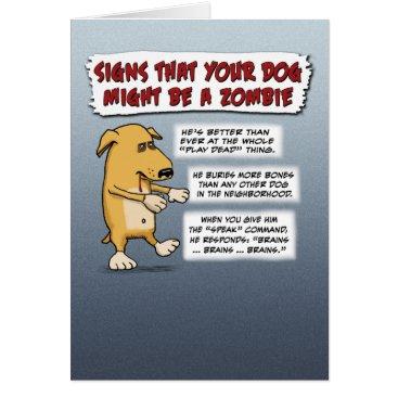 Halloween Themed Funny Halloween card: Zombie Dog Card