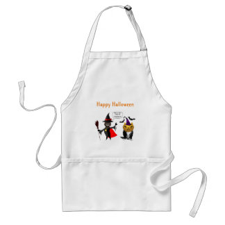 Funny Halloween Cat and Kitten Aprons