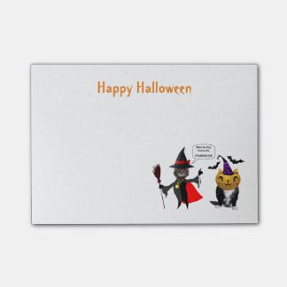 Funny Halloween Cat and Kitten Post-It-Notes Post-it® Notes