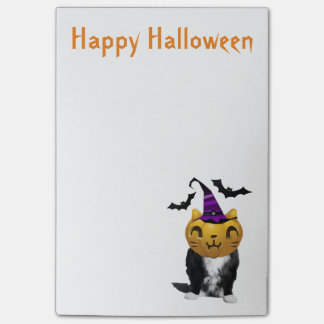 Funny Halloween Cat Post-It-Notes Post-it® Notes