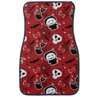 Funny Halloween Characters Pattern Car Mat