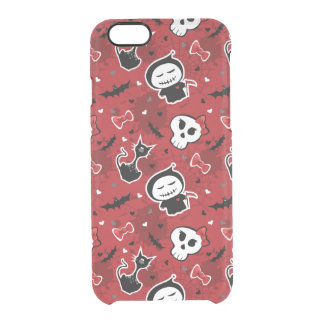 Funny Halloween Characters Pattern Clear iPhone 6/6S Case