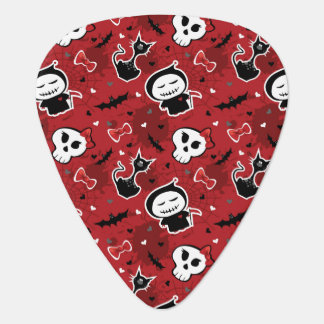 Funny Halloween Characters Pattern Guitar Pick