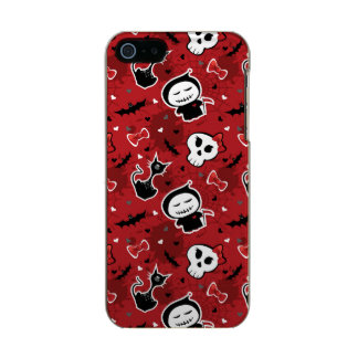 Funny Halloween Characters Pattern Metallic Phone Case For iPhone SE/5/5s