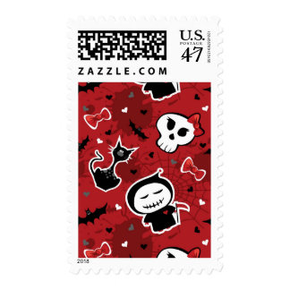 Funny Halloween Characters Pattern Postage