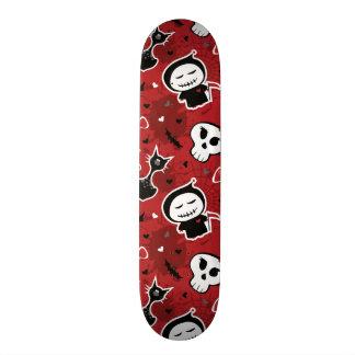 Funny Halloween Characters Pattern Skateboard