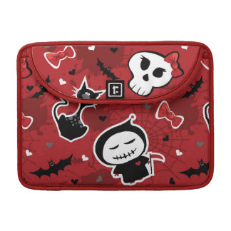 Funny Halloween Characters Pattern Sleeve For MacBook Pro