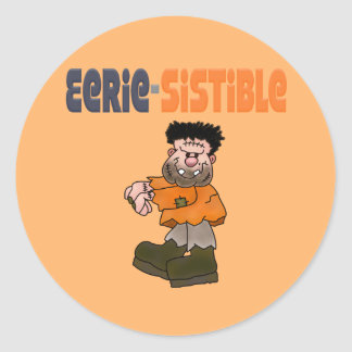 Funny Halloween Classic Round Sticker