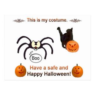 Funny Halloween Costume Postcard