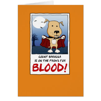 Funny Halloween: Count Barkula Vampire Dog Greeting Card