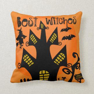 Funny halloween decoration ideas throw pillow