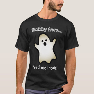 Funny Halloween Feed Me Treats GHOST V05H T-Shirt