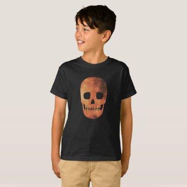 Halloween Themed Funny Halloween Fire Orange Skull Costume T-Shirt