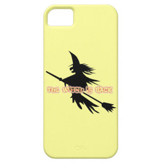 Funny Halloween Flying Witch is Back on Broomstick iPhone 5 Cases