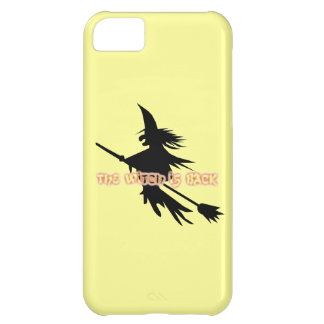 Funny Halloween Flying Witch is Back on Broomstick Case For iPhone 5C